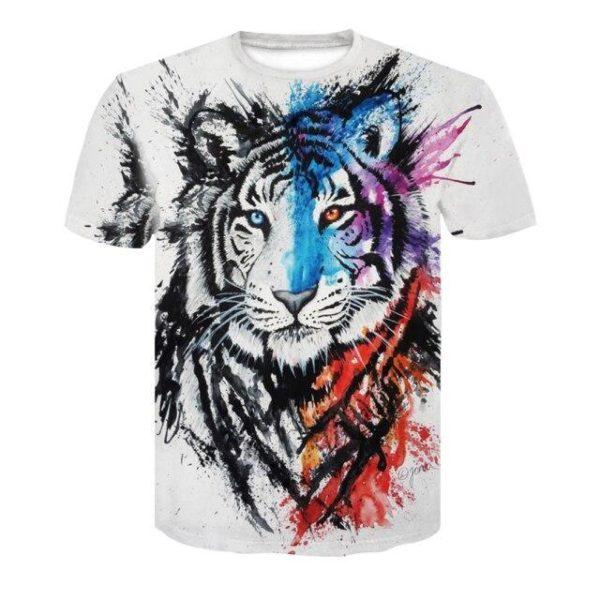 t-shirt tigre fauve tag