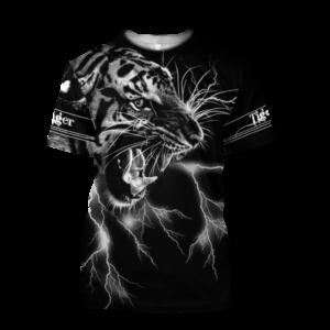 t-shirt tigre foudre