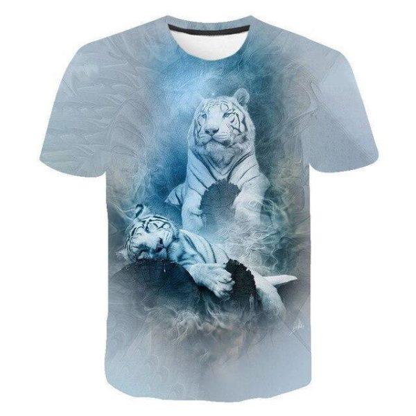 t-shirt tigre légende