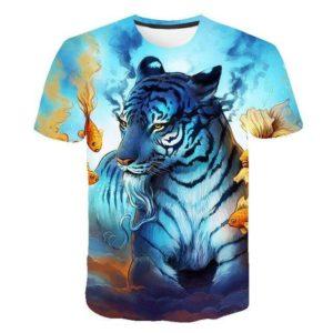 t-shirt tigre marin