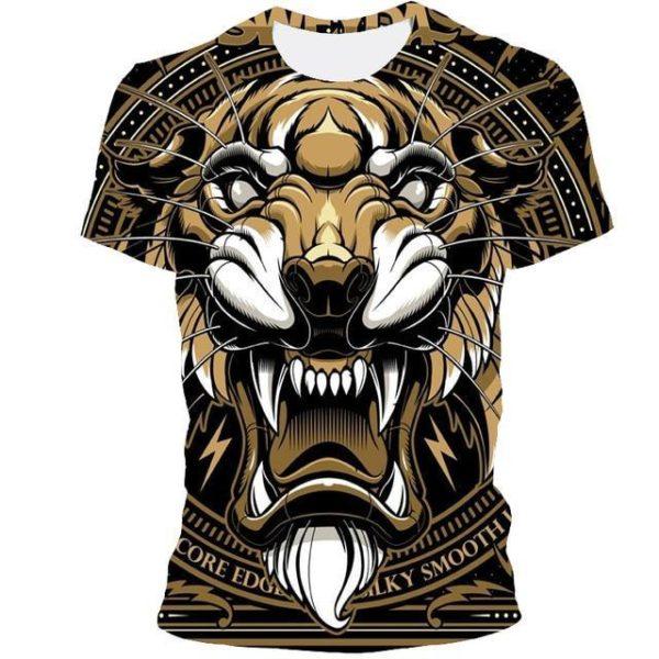 t-shirt tigre mystique bestial