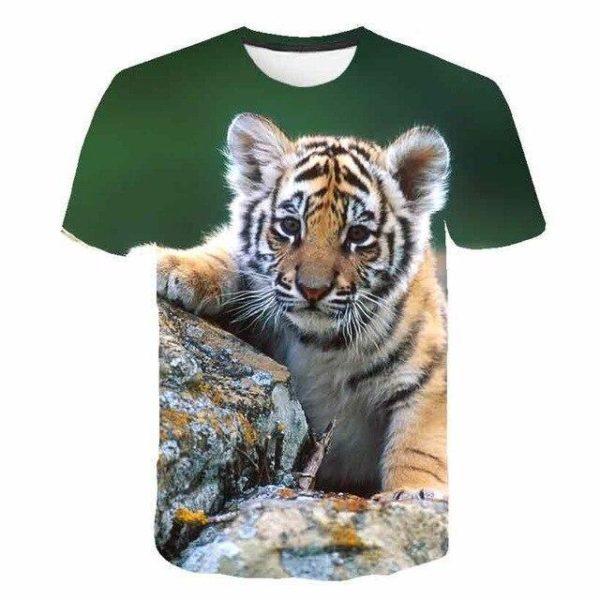 t-shirt tigre petit