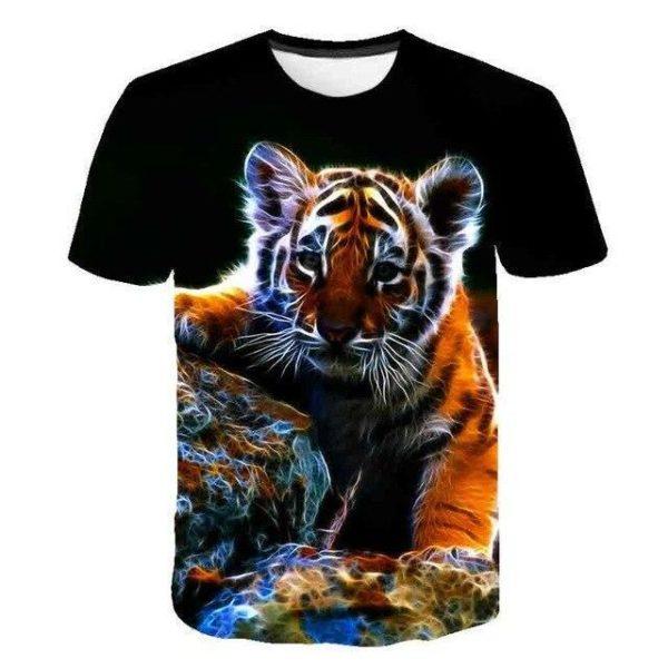 T-Shirt Tigre Petit Lumineux
