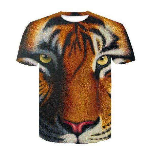 t-shirt tigre portrait
