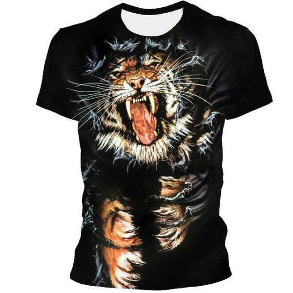 t-shirt tigre rage folle