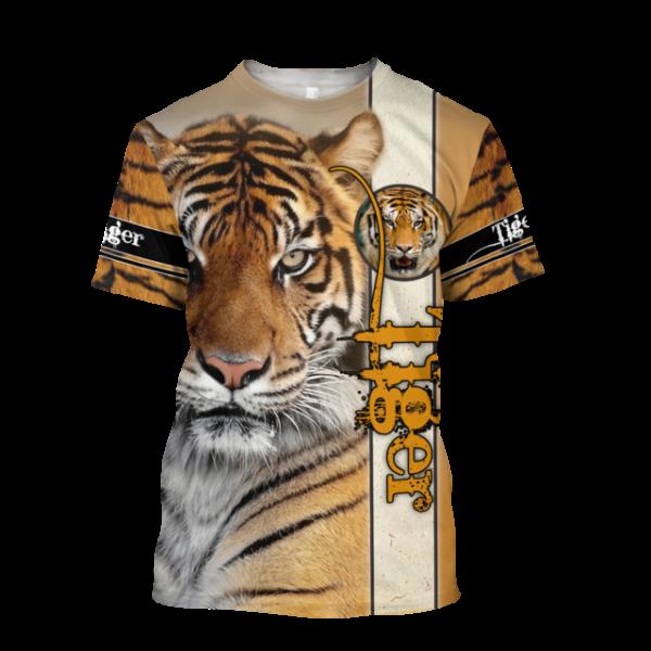 t-shirt tigre tiger félin