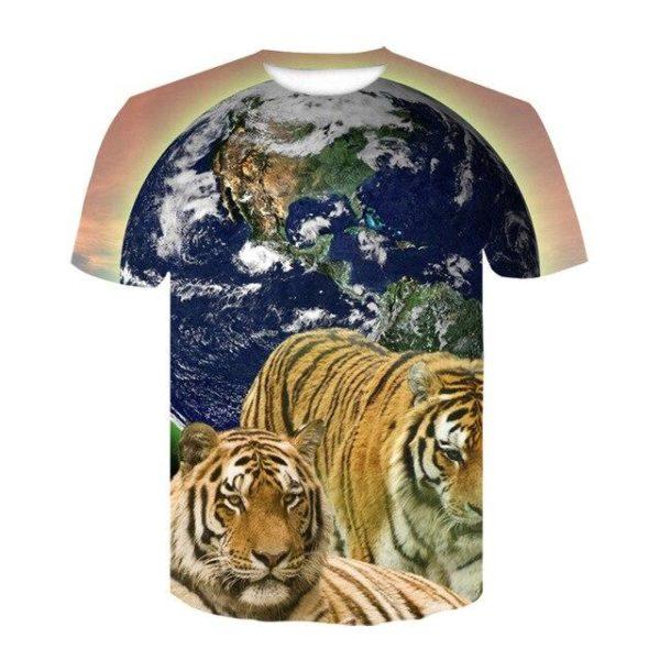 t-shirt tigre world fauve