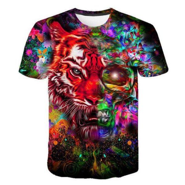 t-shirt tigre mi-dead