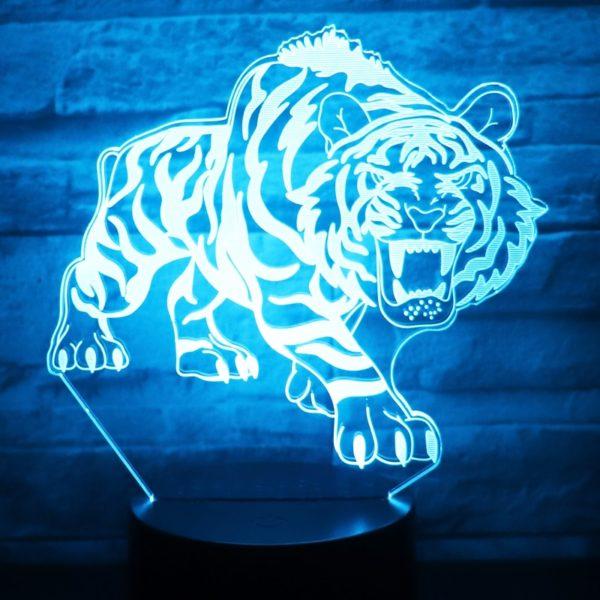lampe tigre Bestial Fauve bleu