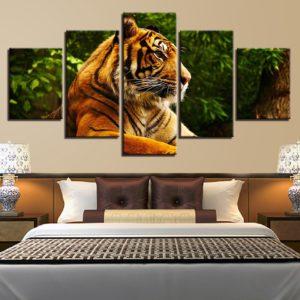 tableau tigre Profil Fauve