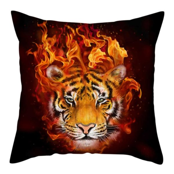 coussin tigre fire