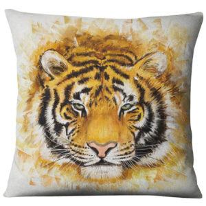 coussin tigre Regard perçant