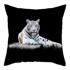 coussin tigre Blanc dans L'obscurité