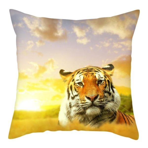 coussin tigre Couché Soleil