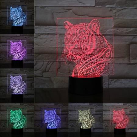 lampe tigre Tribal