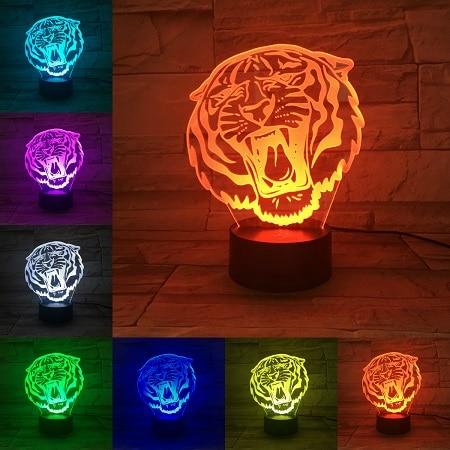 La lampe tigre rugissement féroce