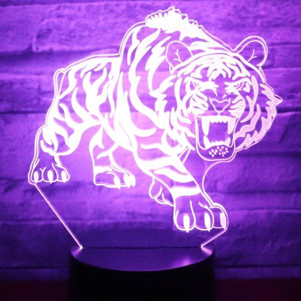 lampe tigre Bestial Fauve violet