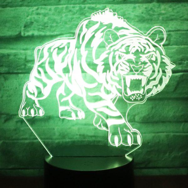 lampe tigre Bestial Fauve vert