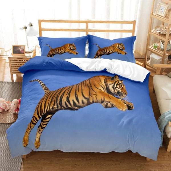 housse de couette tigre Bondissant