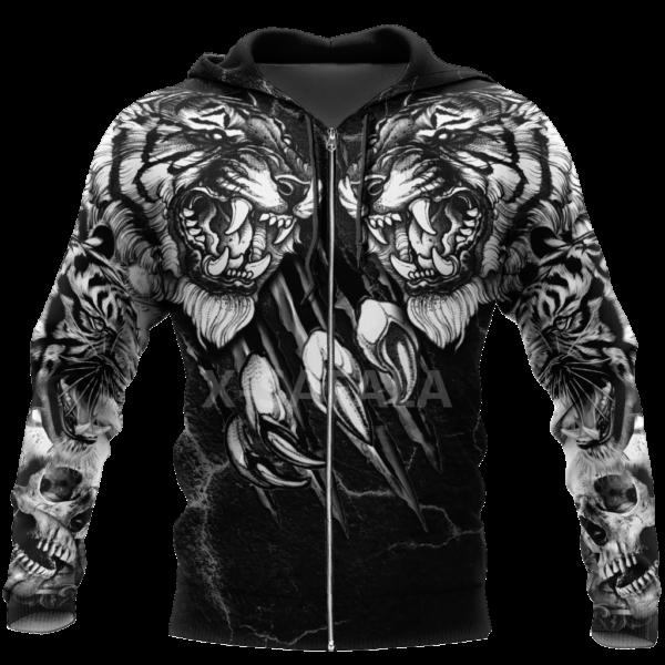 Veste Tigre Démoniaque Noir et Blanc