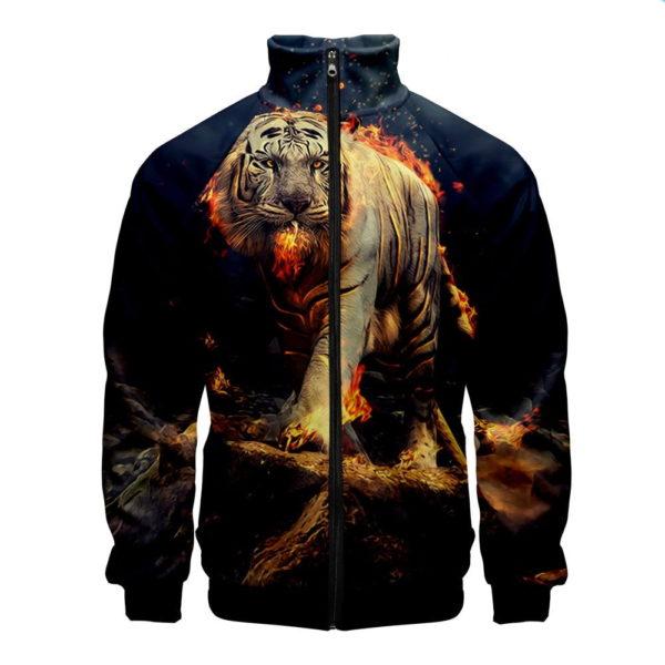 veste tigre enflammé