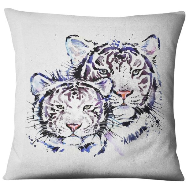 coussin tigre Blanc Picture