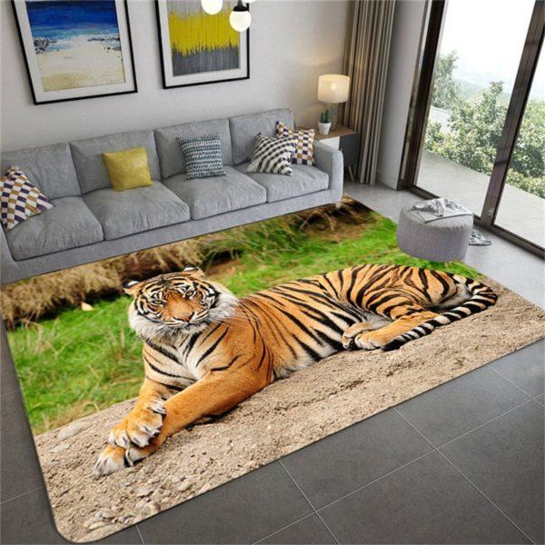 Tapis Tigres Pause Fauve