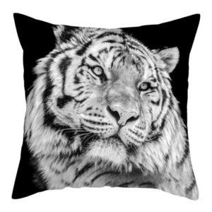 coussin tigre Noir et Blanc
