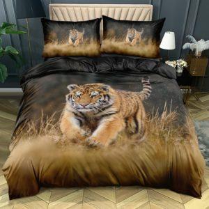 housse de couette tigre Fauve Automne