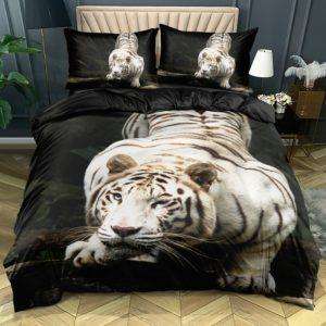housse de couette tigre Fauve Leucistisme