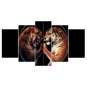 tableau tigre Yin Yang