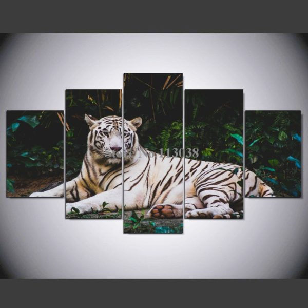 Tableau Tigre Blanc Reposé