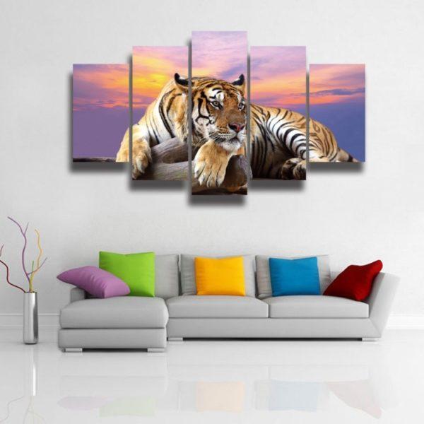 tableau tigre paisible
