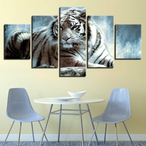 tableau tigre Fauve Saturé