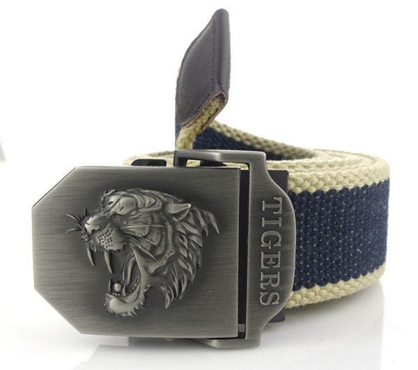 Ceinture Tigre Fauve Army