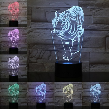 lampe tigre Marche du fauve