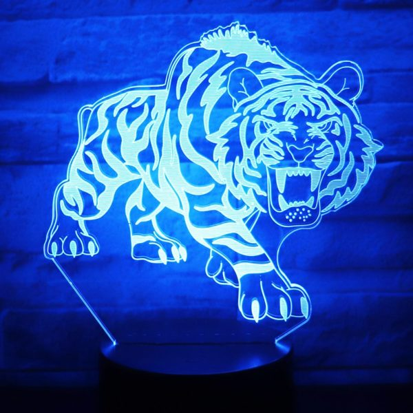 lampe tigre Bestial Fauve bleu foncé