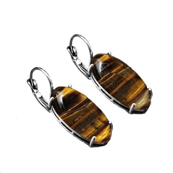 Boucle D'oreille Oeil De Tigre glass
