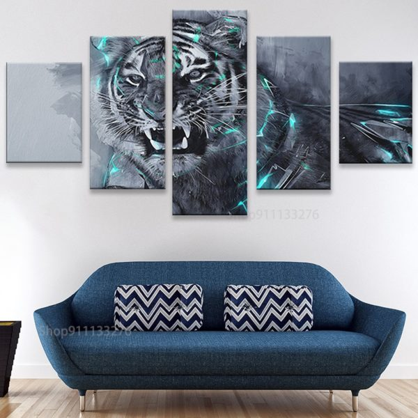 tableau tigre Foudre