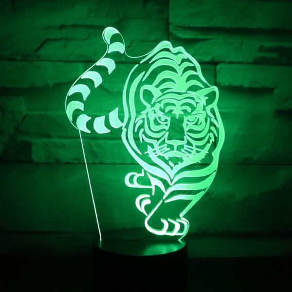lampe tigre En chasse vert
