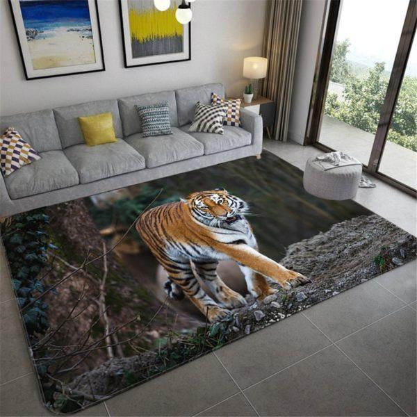 Tapis Tigres Féroce en Forêt