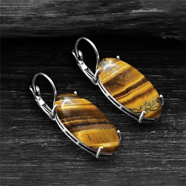 Boucle D'oreille Oeil De Tigre glass claire