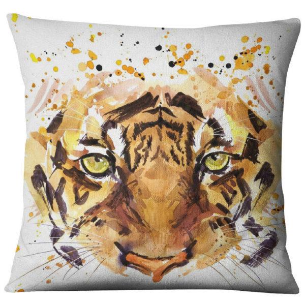 coussin tigre Regard de Fauve