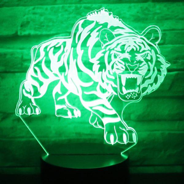 lampe tigre Bestial Fauve vert foncé