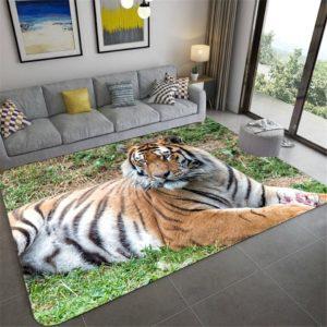 Tapis Tigres Fauve Paisible