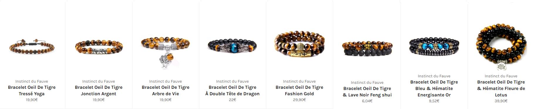 bracelet oeil de tigre de la Caspienne