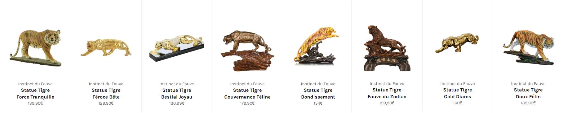 statue tigre maltais