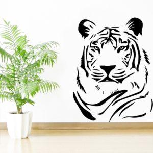 stickers tigre Apaisé