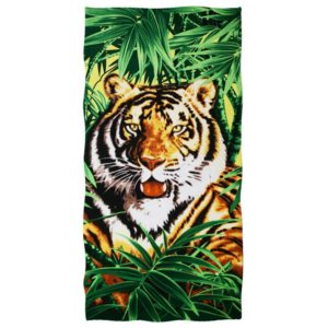 serviette tigre Faune