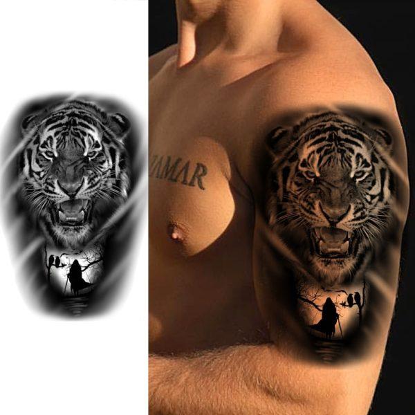 tatouage tigre Obscure